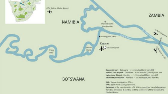 Zambezi Queen Collection - Area Map