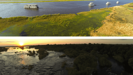 Zambezi Queen Collection - Aerial View