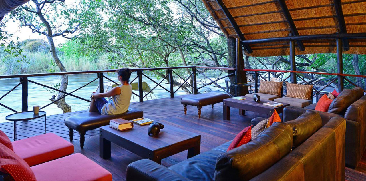 Ichingo Chobe River Lodge Deck