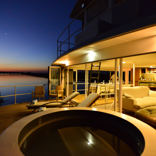 Chobe Princess Deck Sunset