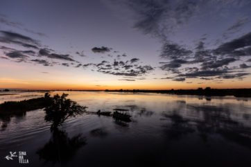 Chobe River after dark. Photography by Sinamatella Productions